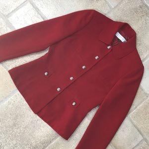 Tahari red blazer jacket size 2